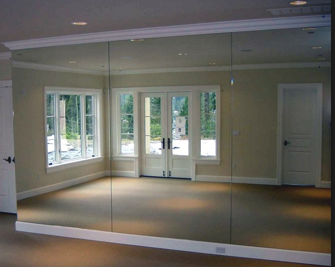 Floor to ceiling mirrors dance