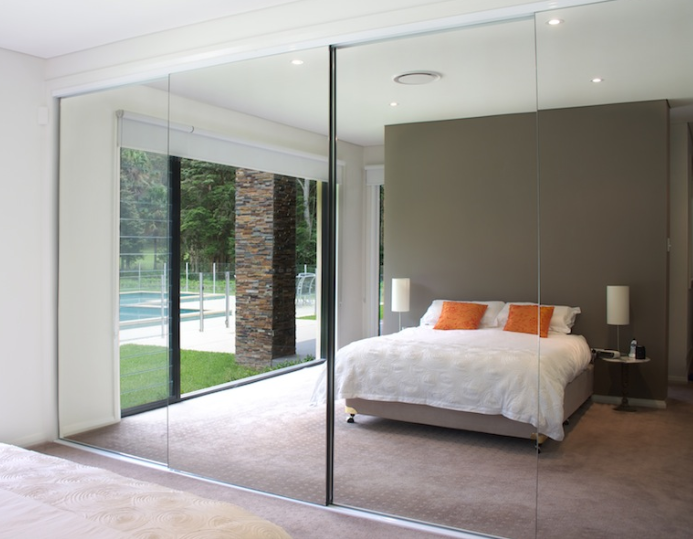 Full Length Glass Mirror Sliding wardrobe door replacement glass Mirror Ireland Buy online supply and Install in Belfast